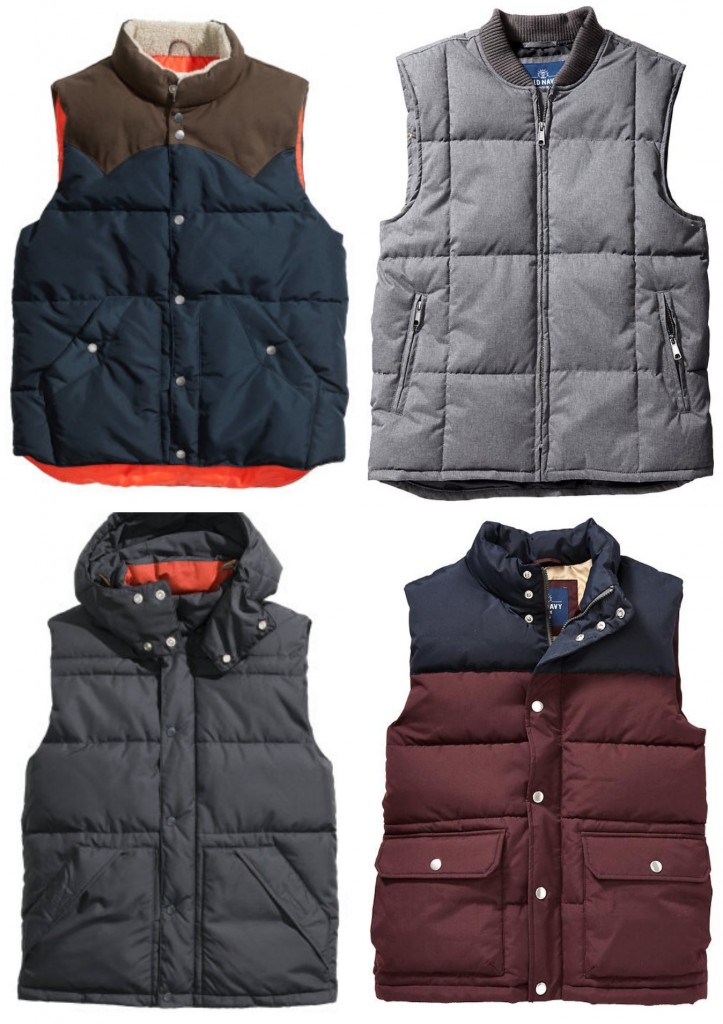 Mens puffer vests holiday gift idea