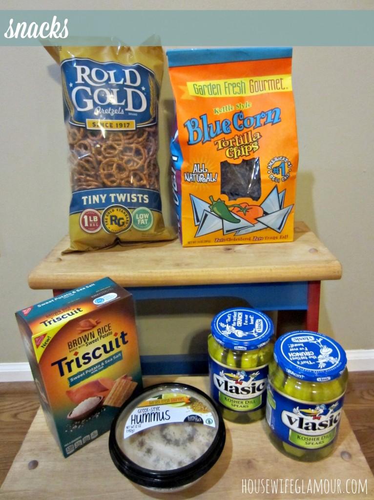 grocery haul snacks
