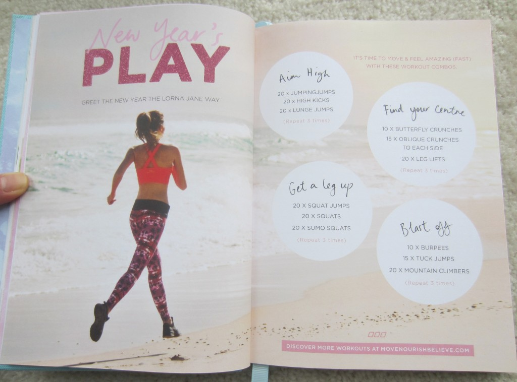 lorna jane diary workouts