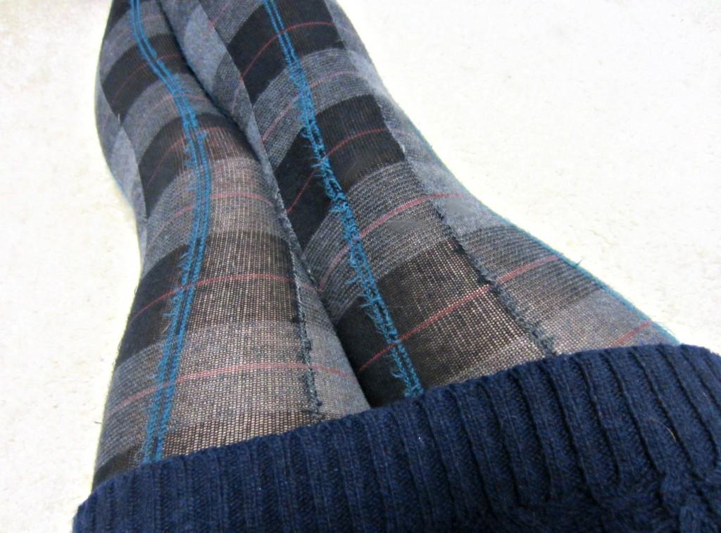 pattern knit tights