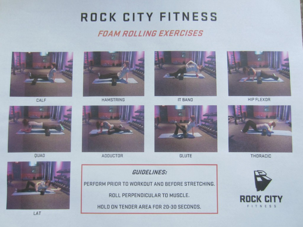 rock city fitness foam rolling exercises
