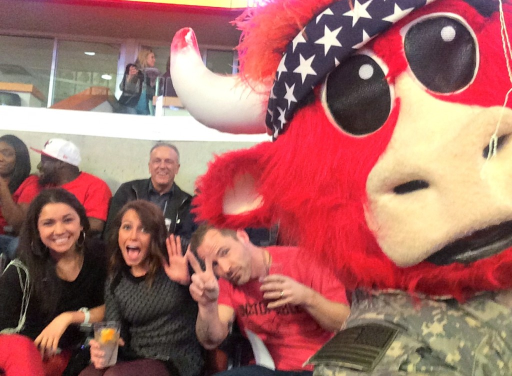 selfie with Benny the Bull