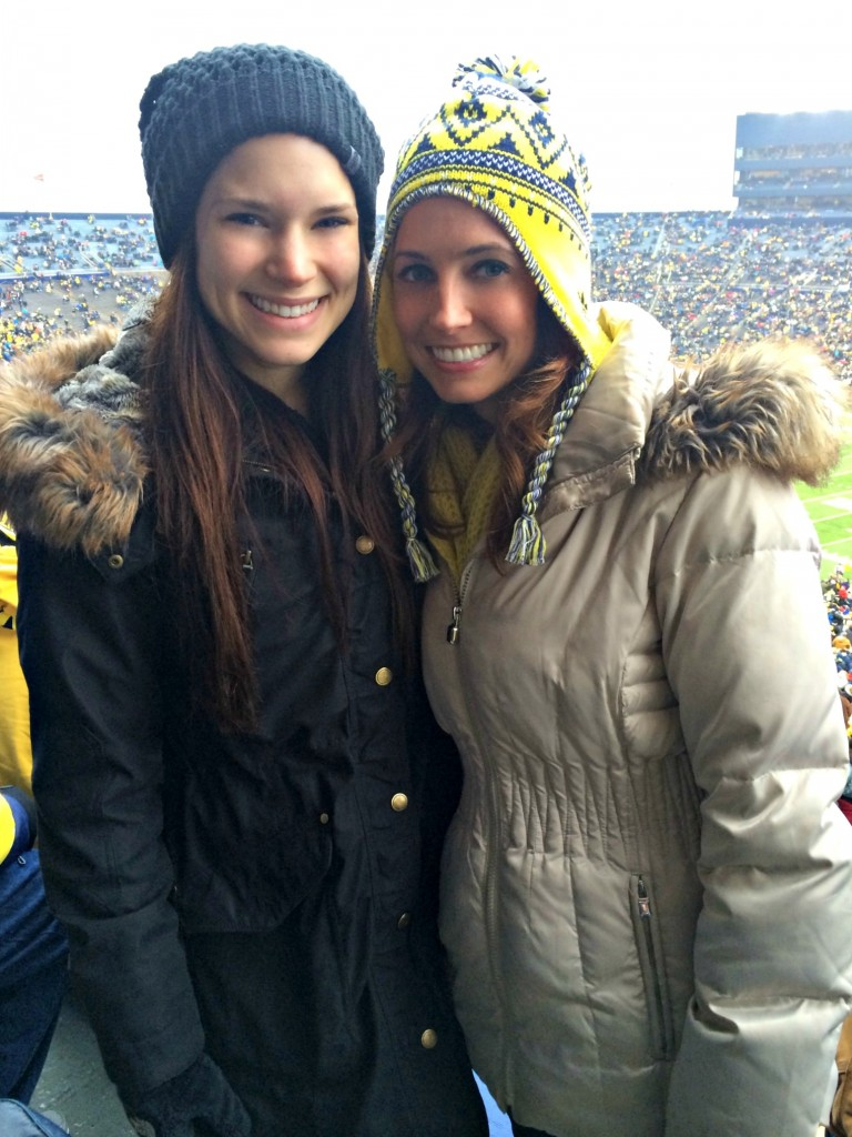 u of m game with alex