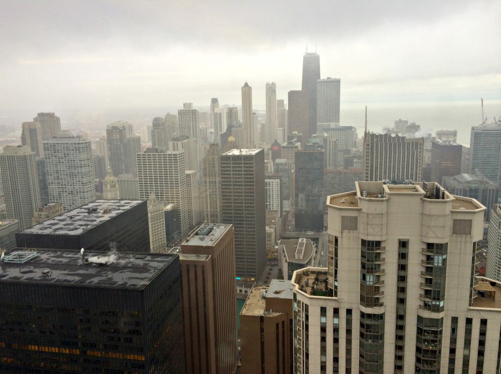 view of Chicago from high rise