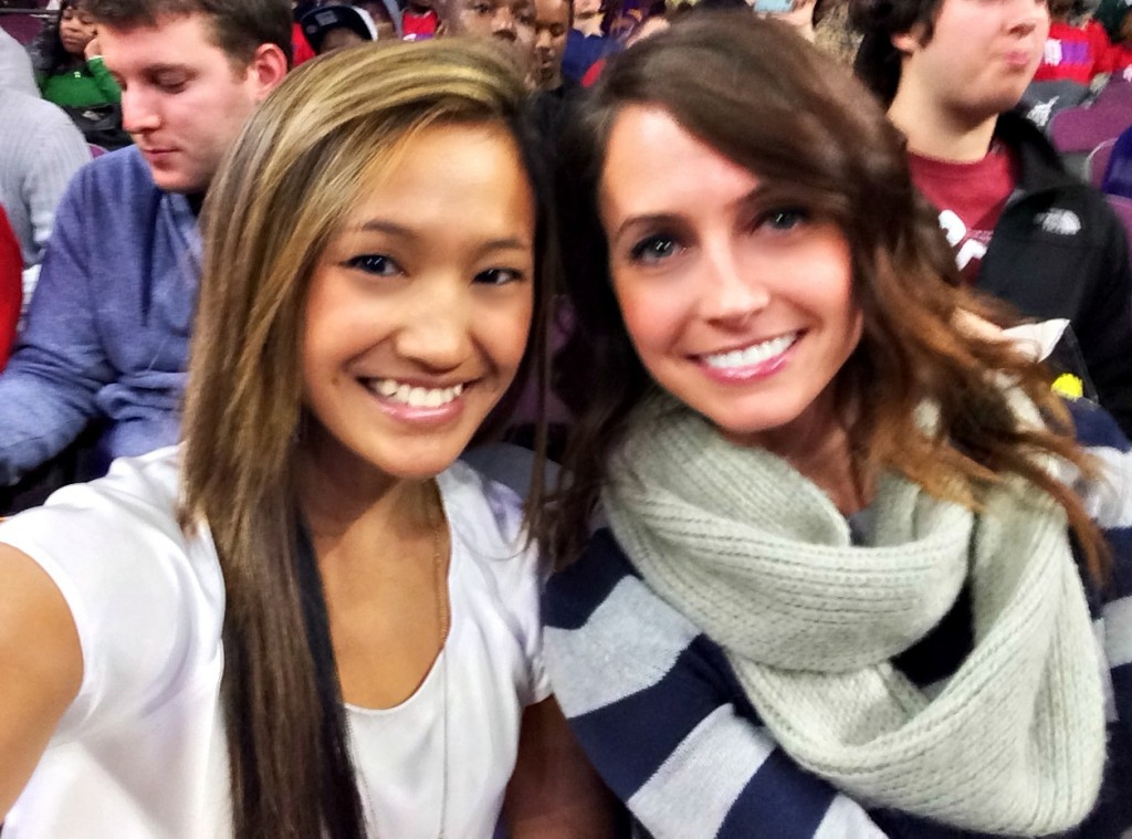 at the game with tiffany