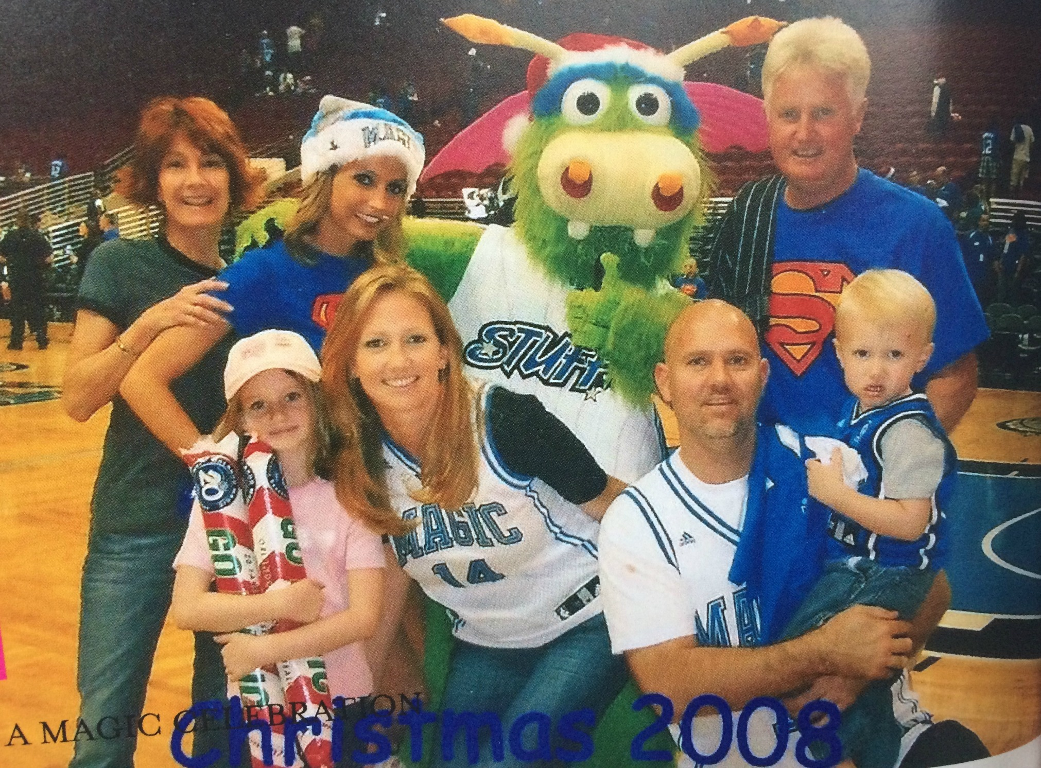 family christmas at the magic game 2008