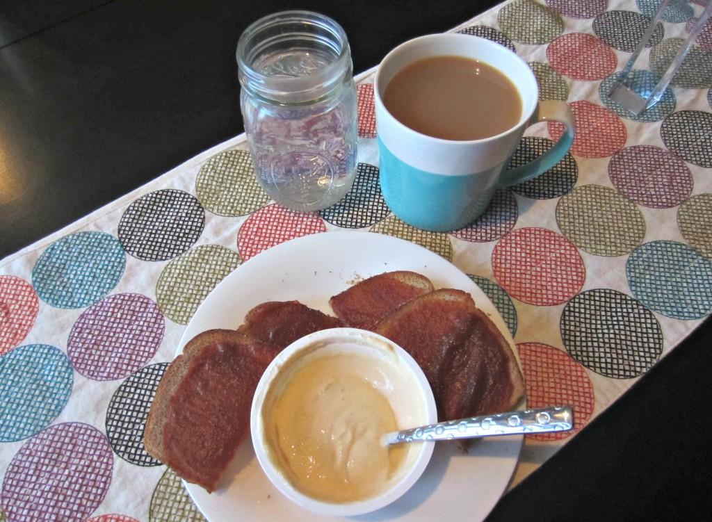 healthy breakfast toast and greek yogurt