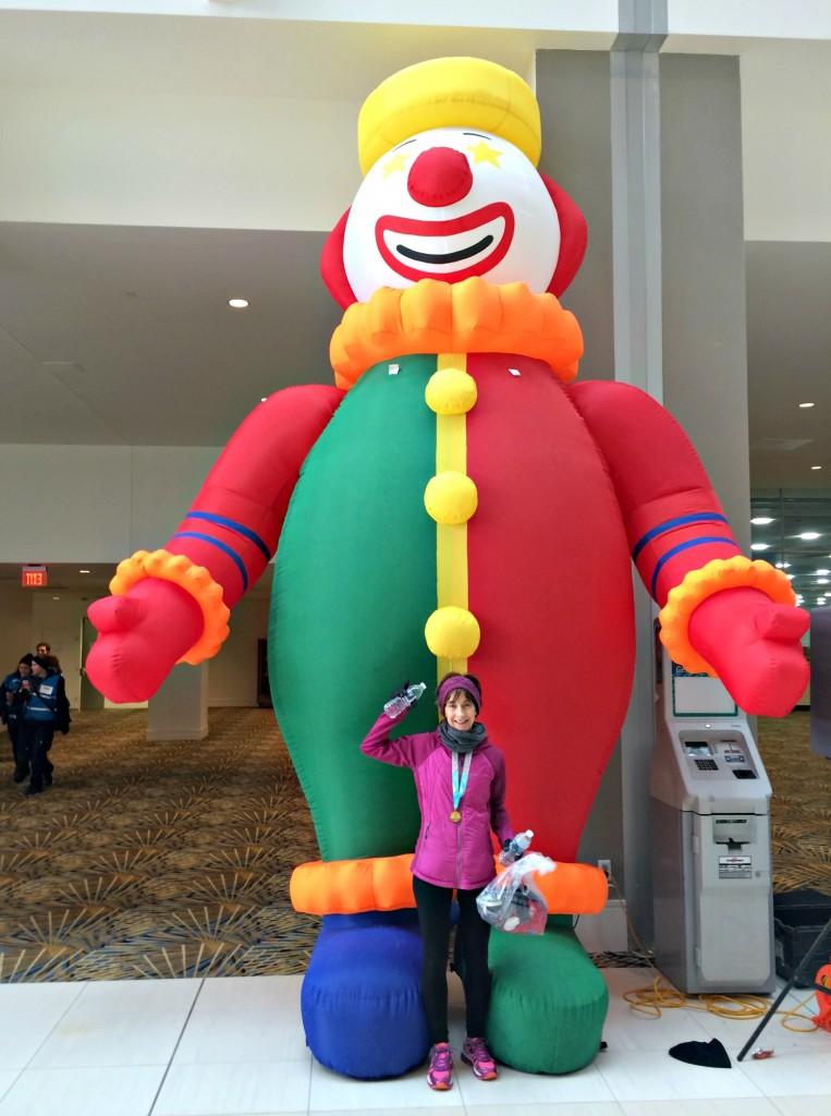 mom with the parade company clown