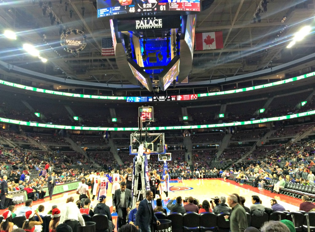 pistons home game