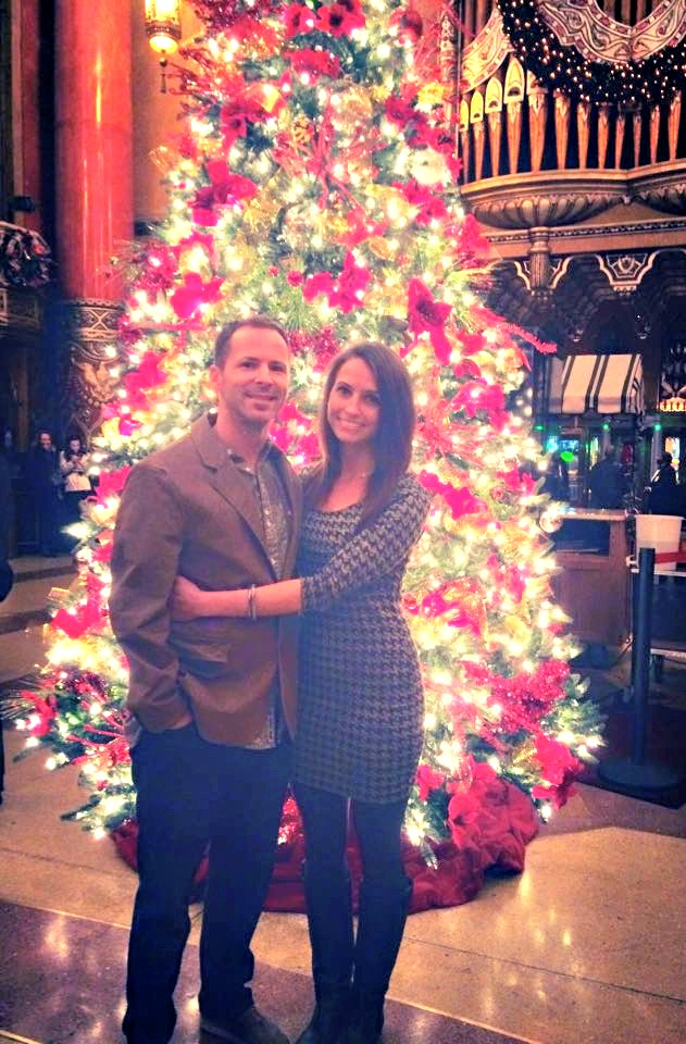 scott and i in fox theatre christmas