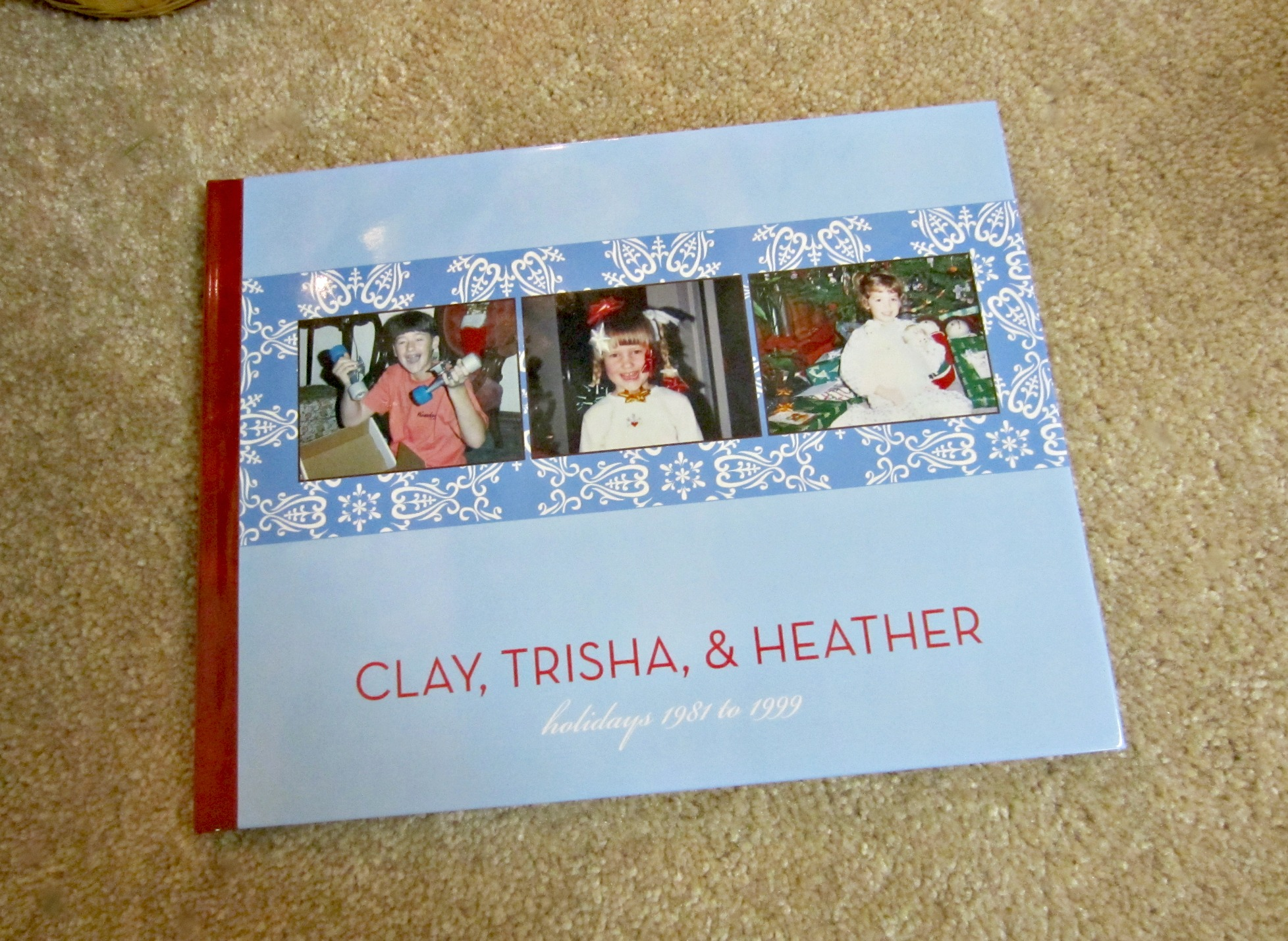 shutterfly christmas family photo book