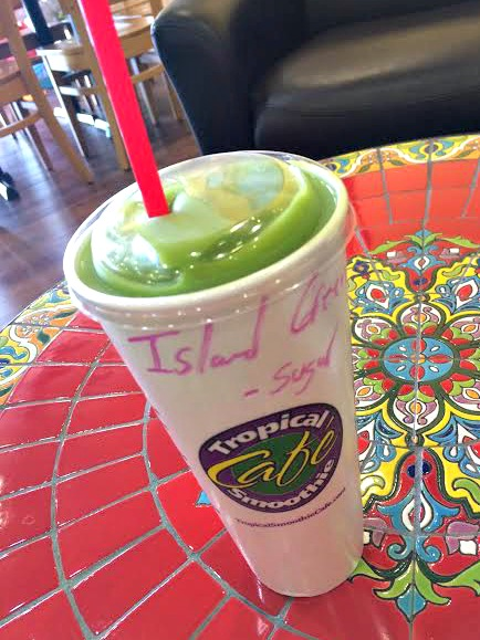 tropical smoothie island green smoothie