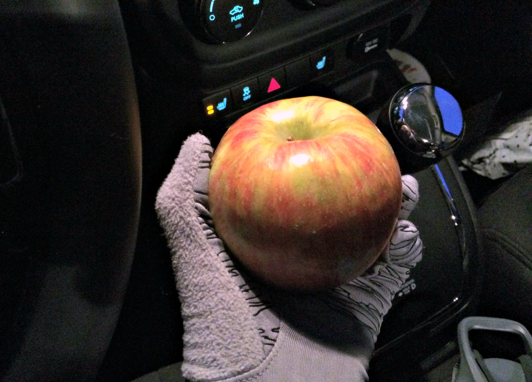 apple on the way to the gym
