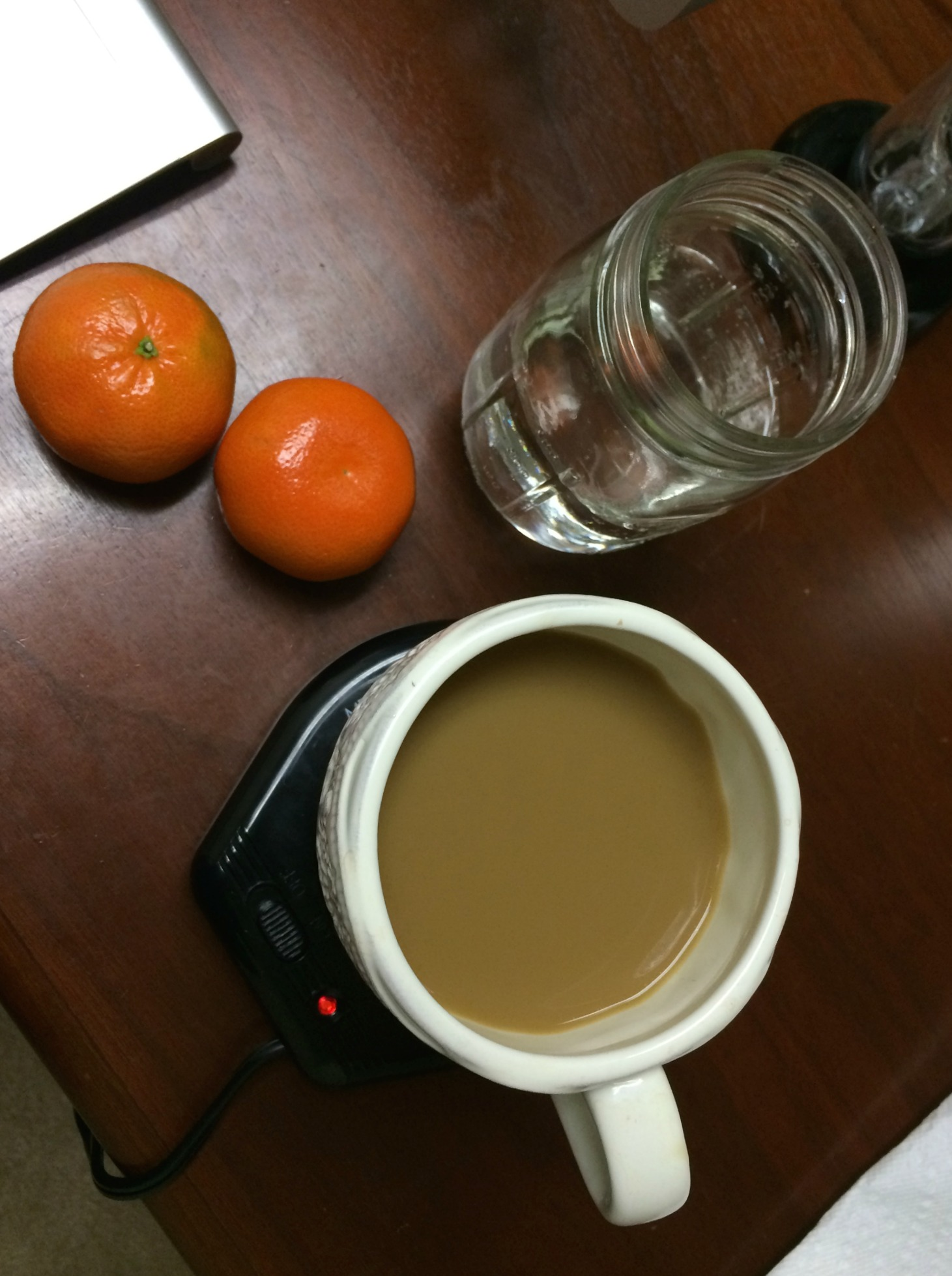 coffee and clementines snack