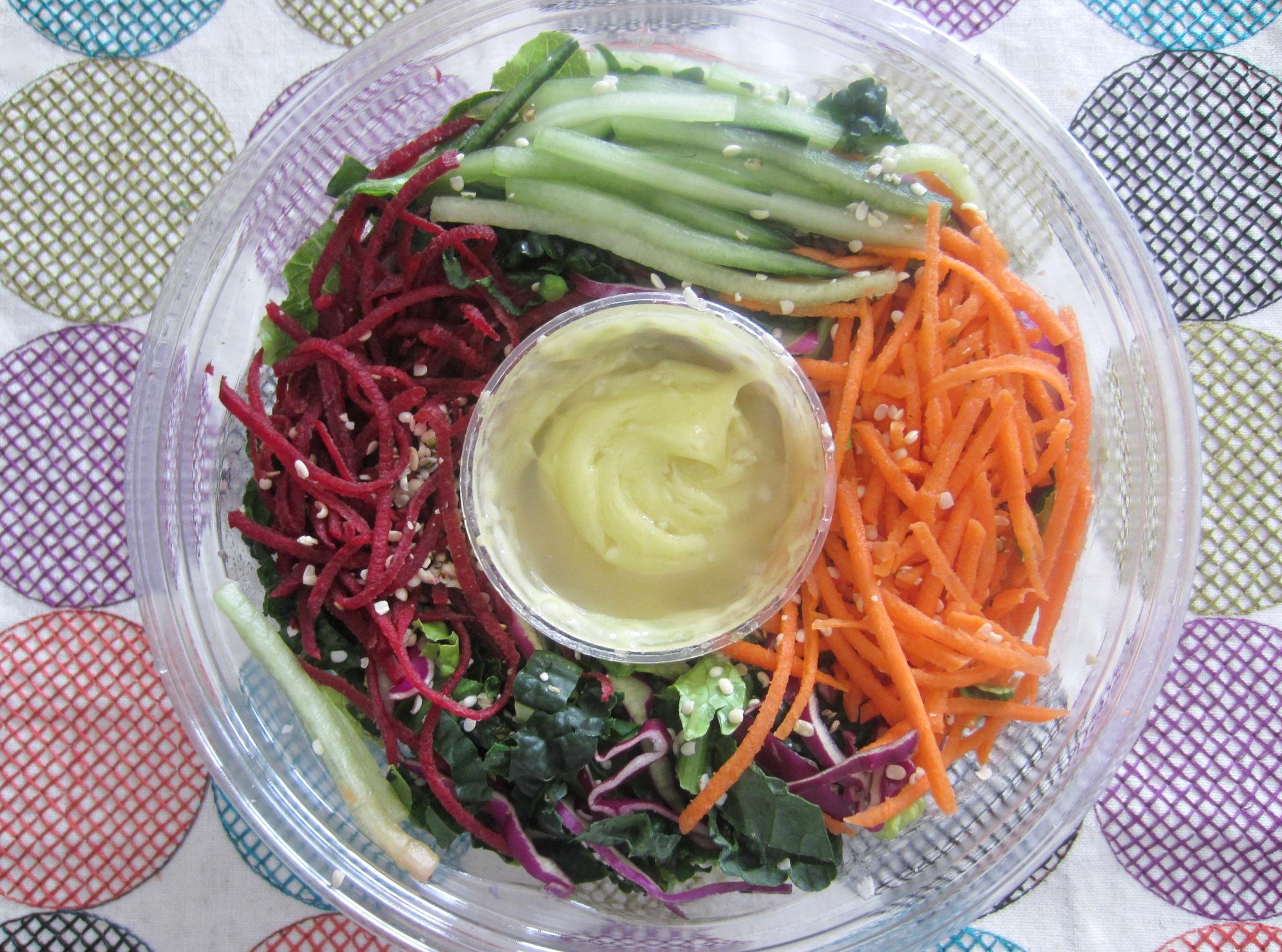 shredded kale salad raw