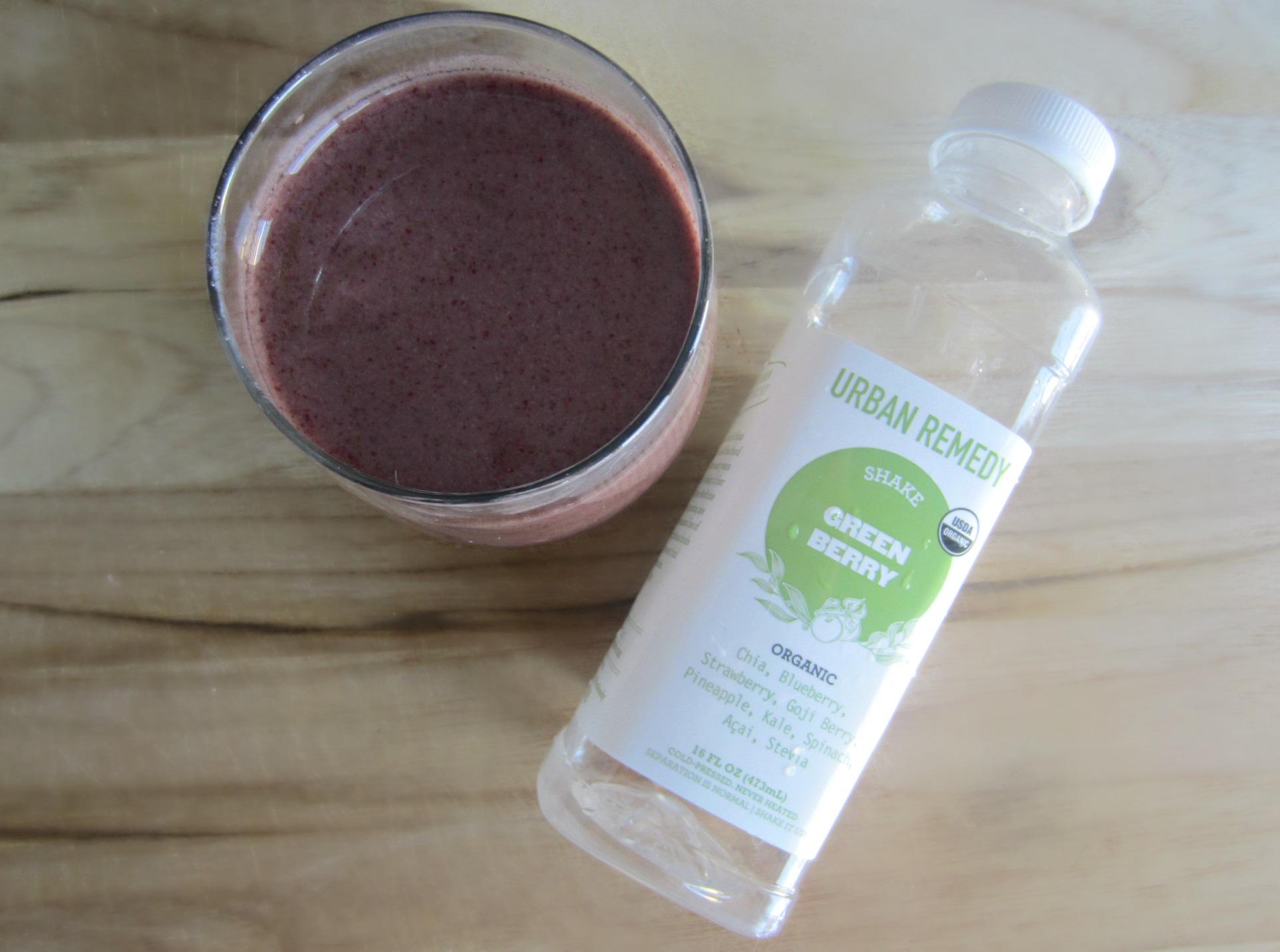 urban remedy green berry shake