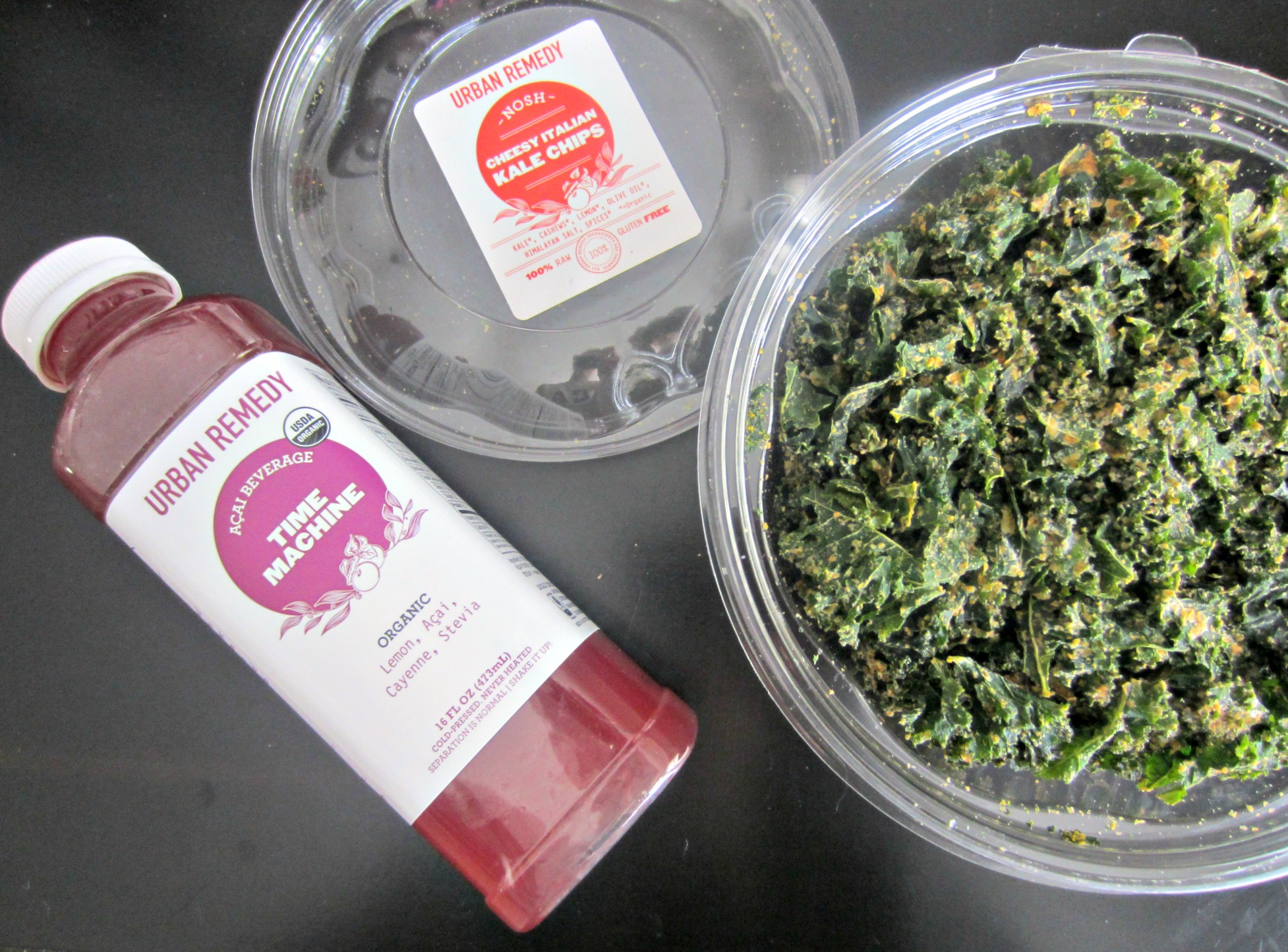 urban remedy kale chips and juice
