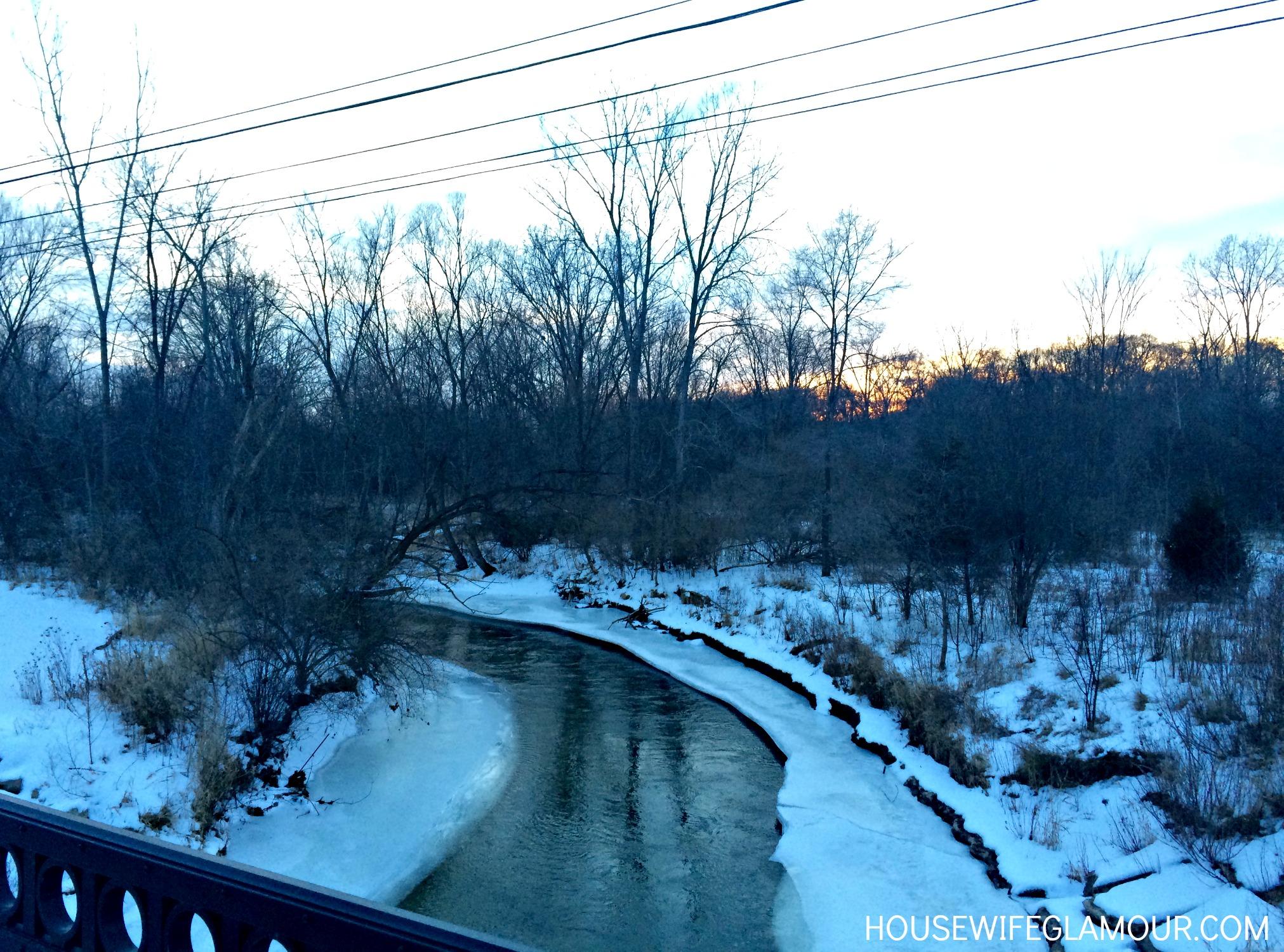 winter running scenery